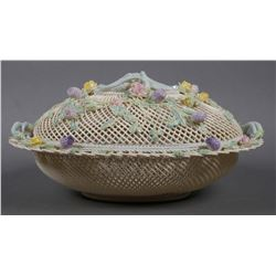 BELLEEK Masterpiece Collection Lidded Basket