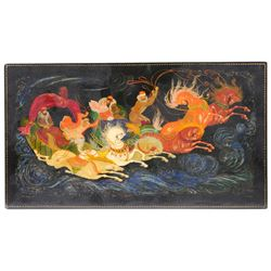 Troika, Russian Lacquer Panel, Signed, 1976