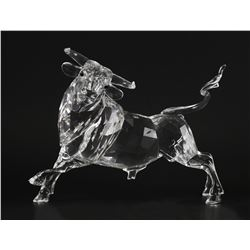 Swarovski Crystal Clear BULL Sculpture Figurine