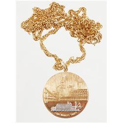 14K CINCINNATI Riverfront Skyline Pendant Chain