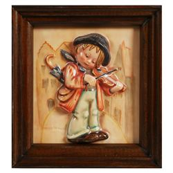 RARE Hummel 107 Little Fiddler Wall Plaque