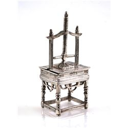 Dutch Silver Miniature Mechanical Press