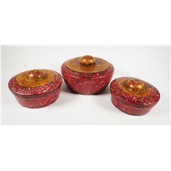 (3) Bali Java Indonesian Bonang Kettle Gong