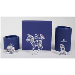 (3) Swarovski Crystal DISNEY BAMBI Figurines