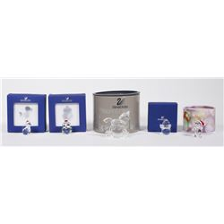 (5) Swarovski Crystal CHRISTMAS Figurines