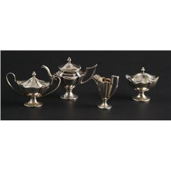 WILLIAM B MEYERS Sterling Miniature TEA SET