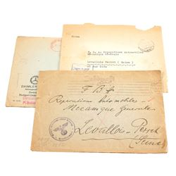 (3) German High Command Letter Envelopes