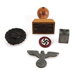 WWII Nazi Party Stamps, Badges, Pins