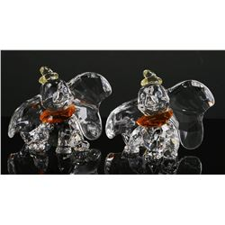 (2) Swarovski Crystal DISNEY DUMBO