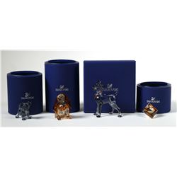 (4) Swarovski Crystal Disney LADY TRAMP Figurine