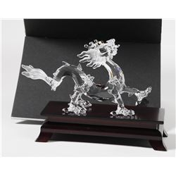 Swarovski Crystal Figurine DRAGON w/ Wood Stand