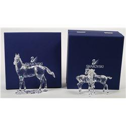 (2) Swarovski Crystal Horse Figurine