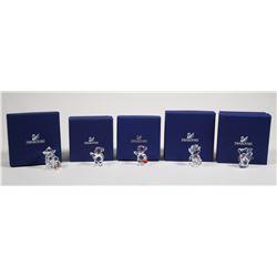 (5) Swarovski Crystal Kris Bears Figurine