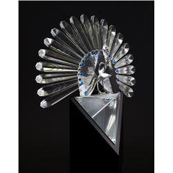 Swarovski Crystal PEACOCK Figurine