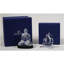 (2) Swarovski Crystal Figures, Asian Themes