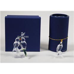 (2) Swarovski Crystal Bird Figurines