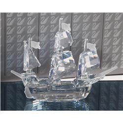 (2) Swarovski Crystal Sailing Ships
