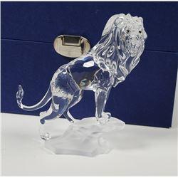 (2) Swarovski Crystal Lion Figurines
