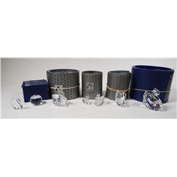 (7) Swarovski Crystal Figurines, Including Swans