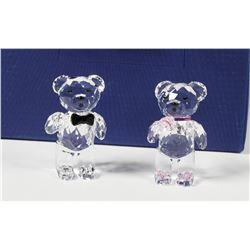 (4) Swarovski Crystal Teddy Bear Figurines