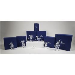 (7) Swarovski Crystal DISNEY Figurines