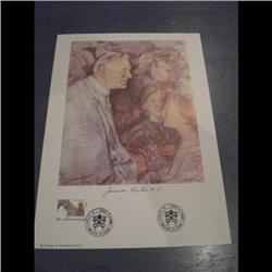 VATICAN PAINTING SIGNED BY POPE JEAN-PA