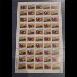 #562-63 XF-NH INDIANS FULL SHEET OF 50