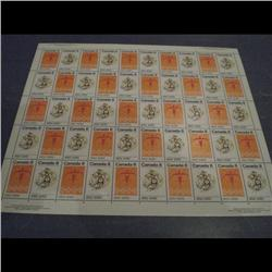 #563-64 XF-NH INDIANS FULL SHEET OF 50
