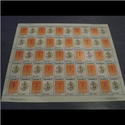 #563-64i XF-NH INDIANS FULL SHEET OF 50