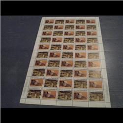 #570-71 XF-NH INDIANS FULL SHEET OF 50