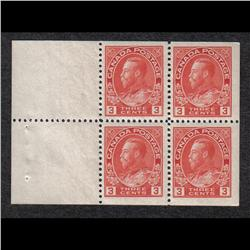 #109a VF NH BOOKLET PANE OF 4 C$200,00