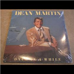 DEAN MARTIN RECORD *ONCE IN A WHILE* SIGNED