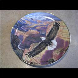1992 PLATE *EAGLE IN GRAND CANYON* #7285/10000 PORCELAIN