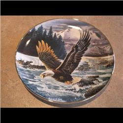 1992 PLATE *EAGLE OVER THE RAPID* #4242/10000 PORCELAIN