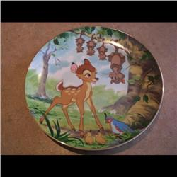 DISNEY PLATE *BAMBI WOODLAND FRIENDS* #40/20000 LOW NUMBER