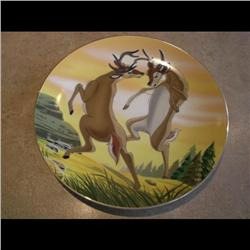 DISNEY PLATE *BAMBI THE CHALLENGE* #250/20000 LOW NUMBER