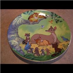 DISNEY PLATE *BAMBI THE NEW PRINCE IS BORN* #2722/20000
