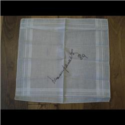 LUCIANO PAVAROTTI SIGNED SCARF WITH AUTHENTICITY LETTER