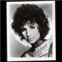 BARBARA STREISAND SIGNED PHOTO WITH AUTHENTICITY ENVELOP