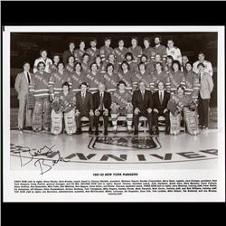 NEW YORK RANGERS PHOTO 1981-82 SAISON -SIGNED BY BARRY BECK WITH AUTHENTICITY ENVELOP