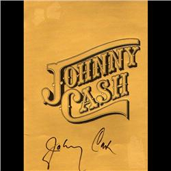 JONNY CASH SIGNED BOOK OF 20 PAGES & COLOR PHOTOS