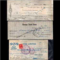 OLD BANK CHEQUE YEAR 1921, 1922 AND 1931 *RARE*