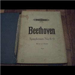 BEETHOVEN 6 to 9 SYMPHONIE - MUSIC BOOK 164 PAGES