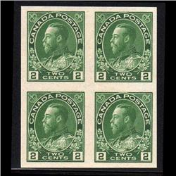 #137 XF-NH IMPERF BLOCK OF 4 CAT$400.00