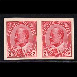 #90a XF-NH IMPERF PAIR CAT$120.00 +++