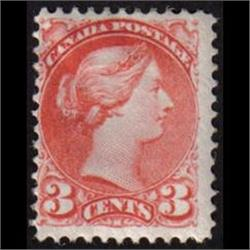 #41i F-VF LH SMALL QUEEN *DEEP ROSE CARMIN VARIETY COLOR (AUTUMN 1888)*