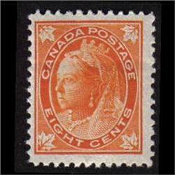 #72 F-VF LH QUEEN VICTORIA **MAPLE LEAF** ISSUE *STAMP HAS ONE HORIZONTAL FOLD*