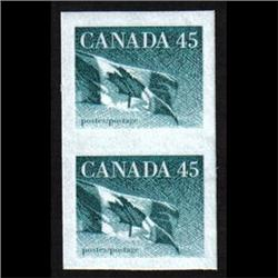 #1396a XF-NH IMPERF PAIR ON HB PAPER