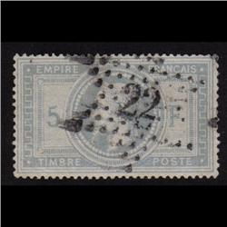 France #37c USED XF STAR CANCEL #22 NO FAULTS