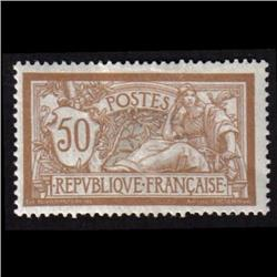 France #123 MINT H BROWN SHADE